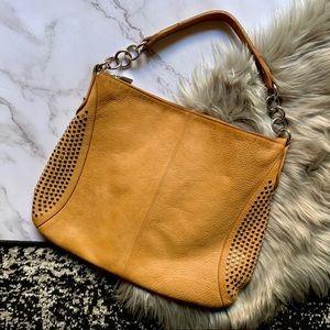 Furla Leather Studded Shoulder Hobo Bag